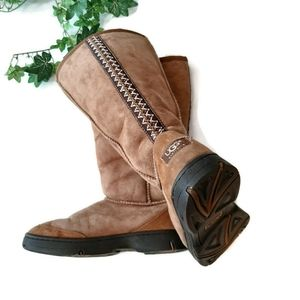 Ugg chestnut Ultimate Tall Braid boots